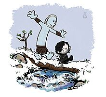 Calvin and Hobbes Beyond the Wall Photographic Print