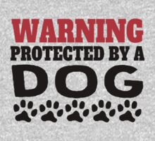 Protected By A Dog One Piece - Short Sleeve