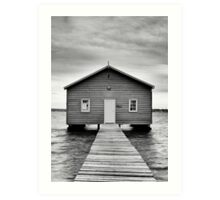 Crawley Edge Boatshed - Perth WA Art Print