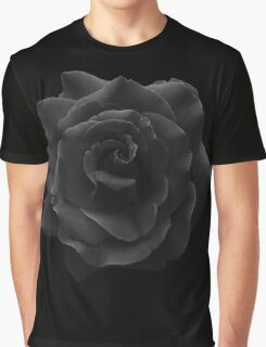 Single Large High Resolution Black Rose. Graphic T-Shirt