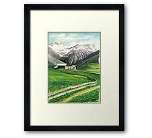 HOLIDAY IN AROSA Framed Print