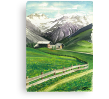 HOLIDAY IN AROSA Canvas Print