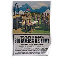 Wanted! 500 bakers for the US Army also 100 cooks 002 Poster