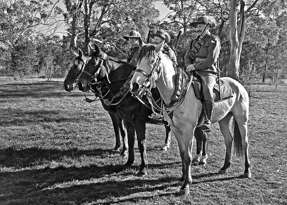 The Lighthorsemen (Black & White) by TonyCrehan