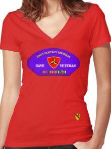 Rave Veteran - 101st Ecstacy Division Women's Fitted V-Neck T-Shirt