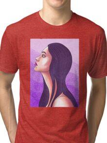 Purple Portrait Tri-blend T-Shirt