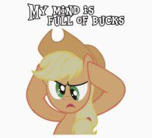 Applejack - My mind is full of bucks by danspy1994