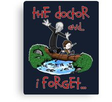 Calvin and Hobbes Doctor Canvas Print