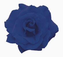 Single Blue Rose. One Piece - Short Sleeve