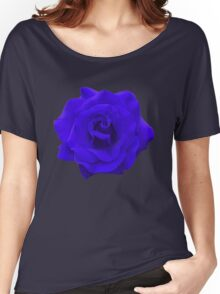 Single Blue Rose. Women's Relaxed Fit T-Shirt