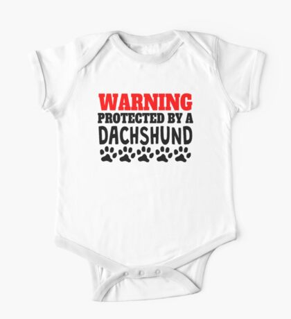 Protected By A Dachshund One Piece - Short Sleeve
