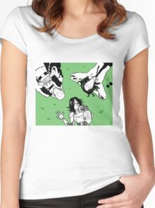 Lay in the shade of me Women's Fitted Scoop T-Shirt
