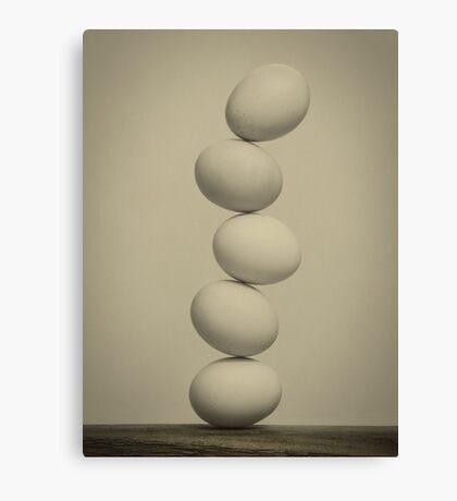 Balancing Eggs Canvas Print