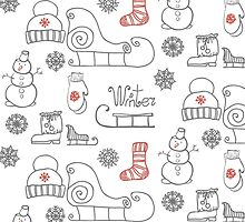 Freehand drawing Winter holiday by OlgaBerlet