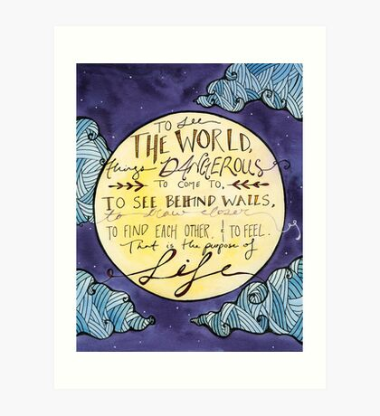Walter Mitty Quote Art Print