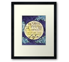 Walter Mitty Quote Framed Print