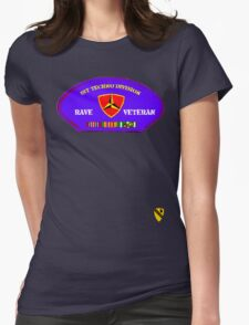 Rave Veteran - 1st Techno Division Womens Fitted T-Shirt