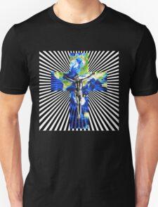 Climate Change Cube Earth Op Art Pop Jesus T-Shirt