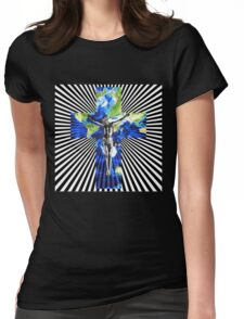 Climate Change Cube Earth Op Art Pop Jesus Womens Fitted T-Shirt