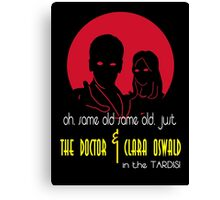 The Doctor and Clara Canvas Print