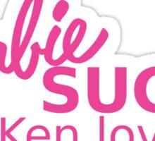 Barbie Sucks! Sticker