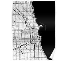Chicago OpenStreetMap Poster Poster