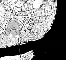Lisbon OpenStreetMap Poster by Traut1