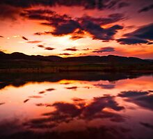 A Foothills Sunset by John  De Bord Photography