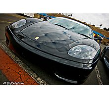 Black Ferrari Photographic Print