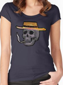 the outlaw Zombie Wales Women's Fitted Scoop T-Shirt