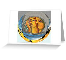 "Yin & Yang as in Genesis ""Man Of Clay"" Greeting Card"
