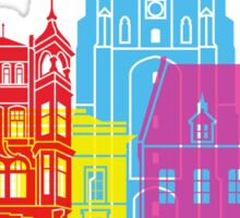 Leeuwarden skyline pop Sticker