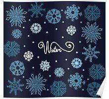Beautiful snowflakes Poster
