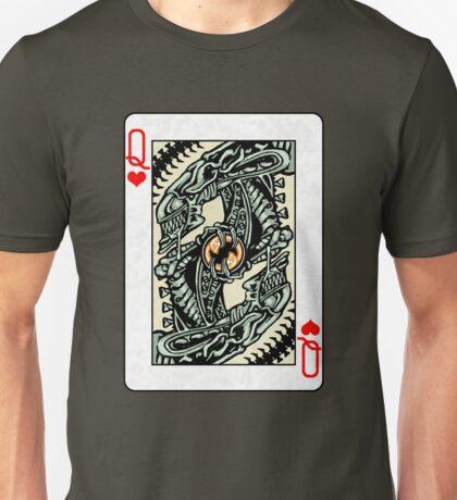 ALIEN QUEEN OF HEARTS Unisex T-Shirt