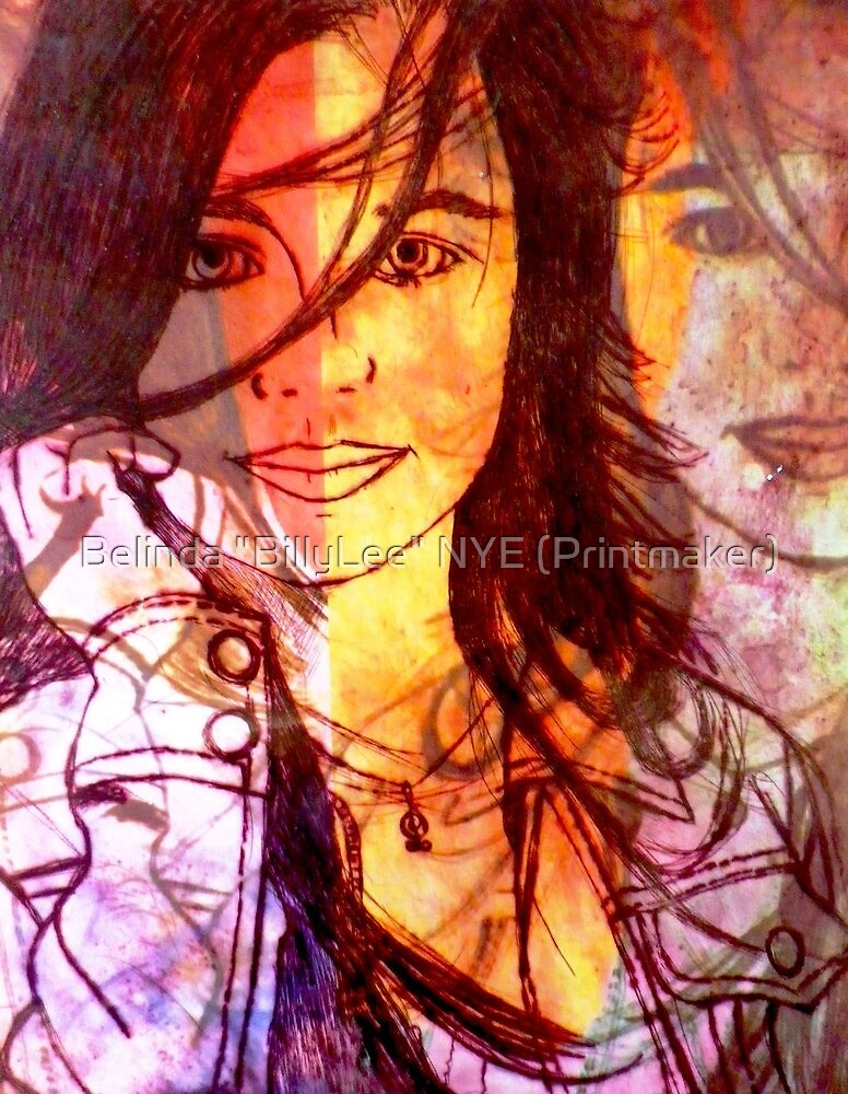 """Hey Thirteen in Purple by Belinda """"BillyLee"""" NYE (Printmaker)"""