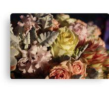 Pastel colours bouquet. Canvas Print