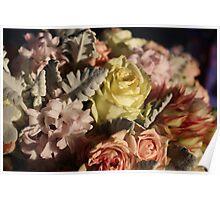 Pastel colours bouquet. Poster