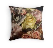 Pastel colours bouquet. Throw Pillow