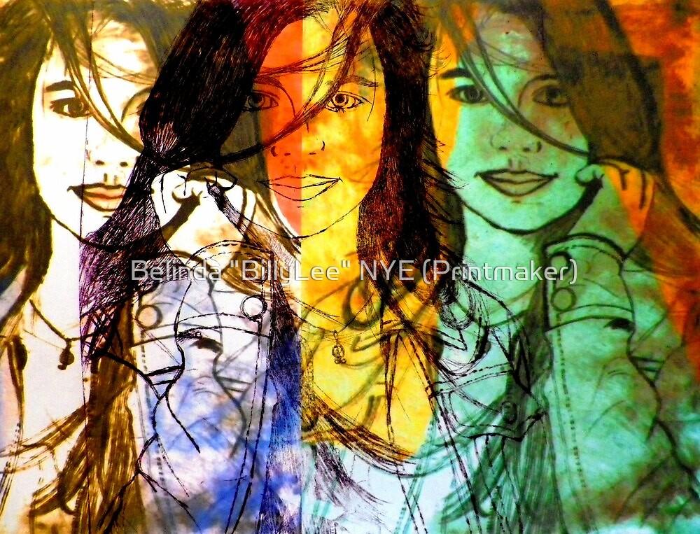 """Hey Thirteen - Digital/Etching by Belinda """"BillyLee"""" NYE (Printmaker)"""