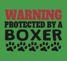 Protected By A Boxer Kids Tee