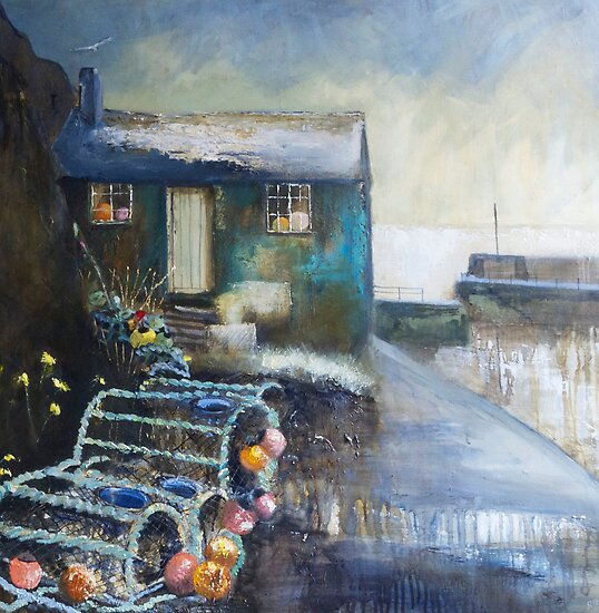 Fisherman's Hut, Mullion Cove by Sue Nichol