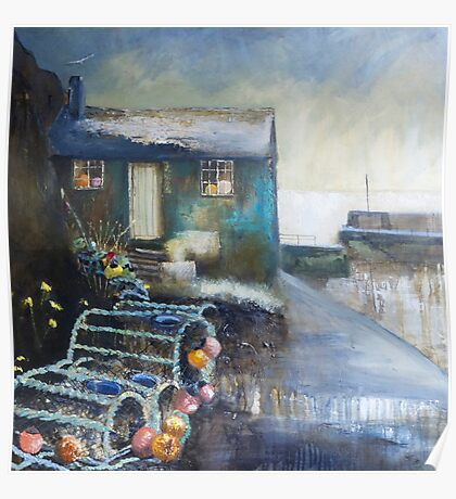 Fisherman's Hut, Mullion Cove Poster