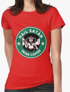 Hail Satan... Drink Coffee! Red Coffee Cup Design with the Devil T-Shirt