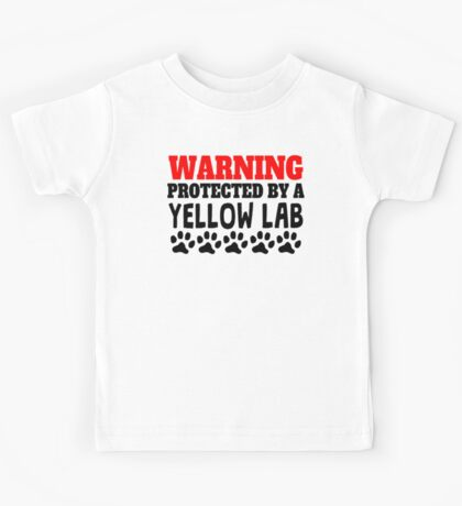 Protected By A Yellow Lab Kids Tee