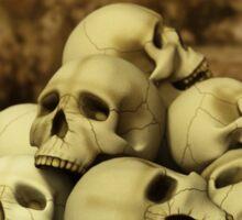 A Pile of Skulls Sticker