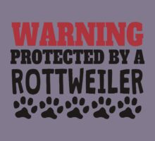 Protected By A Rottweiler Kids Tee