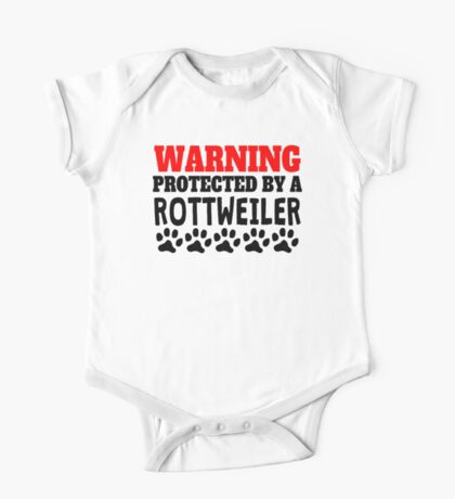 Protected By A Rottweiler One Piece - Short Sleeve