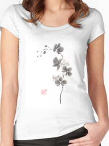 Butterfly orchid Women's Fitted Scoop T-Shirt