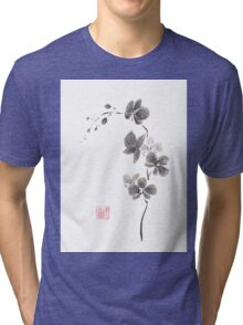 Butterfly orchid Tri-blend T-Shirt