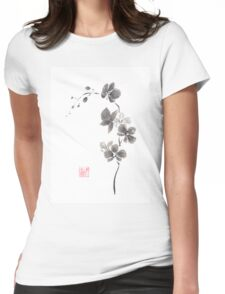 Butterfly orchid Womens Fitted T-Shirt